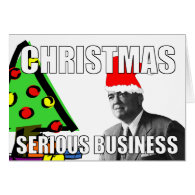 Christmas: Serious Business Greeting Card