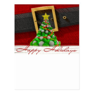 Christmas Setting with Santa Clause Belt Postcard