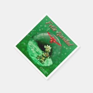Christmas Sevilletas Reno Paper Napkin at Zazzle