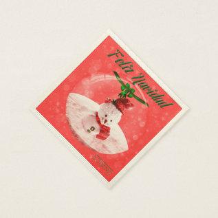 Christmas Sevilletas Snowman Paper Napkin at Zazzle
