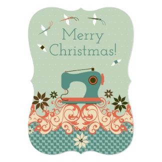 Christmas sewing machine angel needle thread card