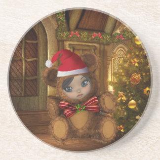Christmas Shae Baby Santa Bear Coaster