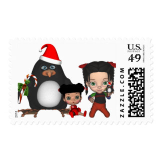 Christmas Shannon N Friends Postage Stamps