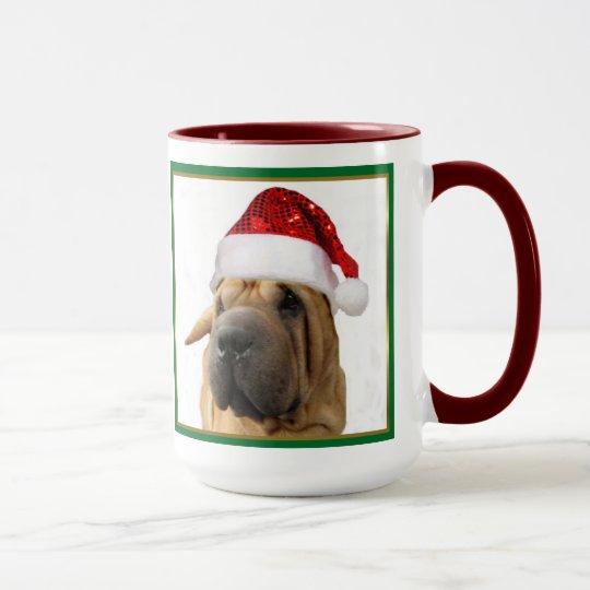 Christmas Shar Pei dog mug