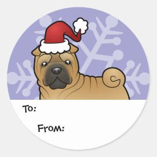 Christmas Shar Pei Gift Tags