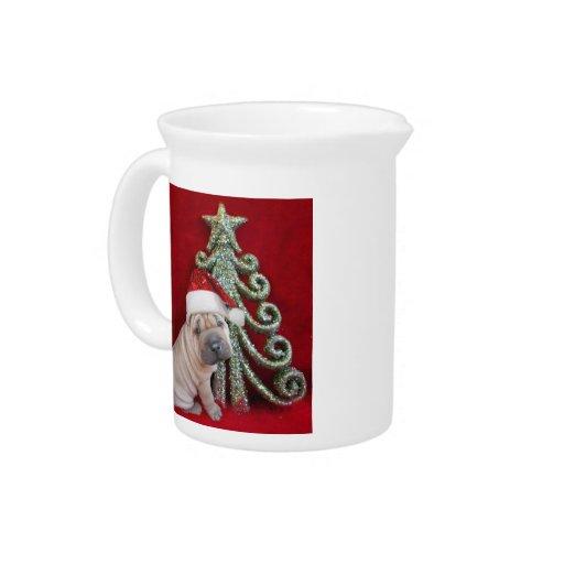 Christmas shar pei puppy pitchers