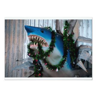 Christmas Shark invitation