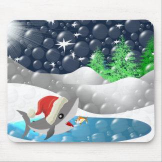 Christmas Shark Mouse Pad