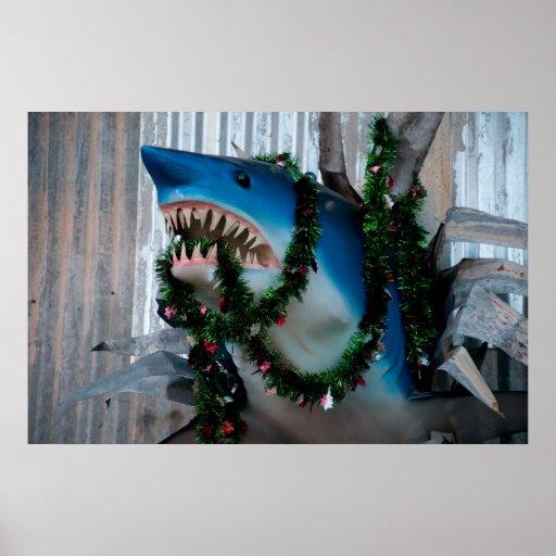 Christmas Shark poster