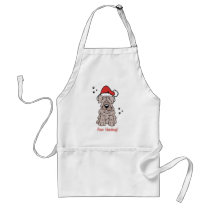 Christmas Sharpei Dog Adult Apron
