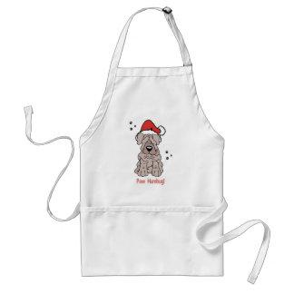 Christmas Sharpei Dog Adult Apron