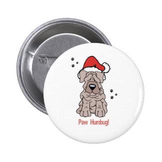 Christmas Sharpei Dog Pins