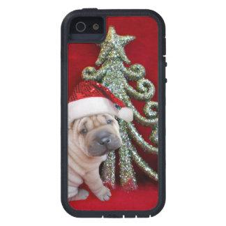 Christmas Sharpei dog iPhone 5 Cases