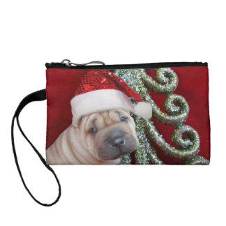 Christmas Sharpei dog Coin Purse
