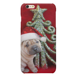 Case Savvy iPhone 6 Plus Glossy Finish Case with Shar-Pei Phone Cases design
