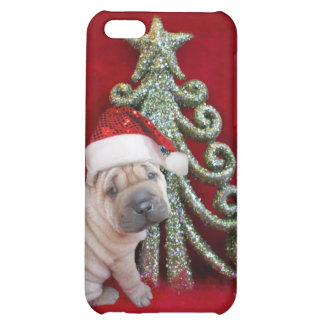 Christmas Sharpei dog Case For iPhone 5C