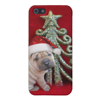 Christmas Sharpei dog Case For iPhone 5/5S