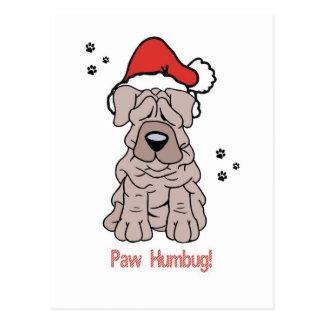 Christmas Sharpei Dog Postcard
