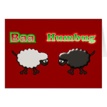 Christmas Sheep Baa Humbug Design Card