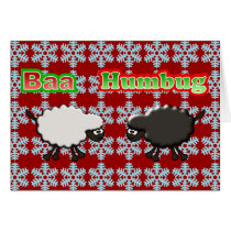 Christmas Sheep Baa Humbug Design Card