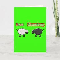 Christmas Sheep Baa Humbug Design Holiday Card