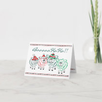 Christmas sheep baaa ha ha 2018 holiday card
