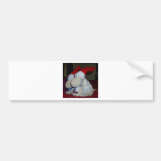 Christmas Sheep Car Bumper Sticker