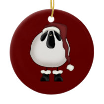 Christmas Sheep Ceramic Ornament