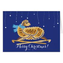 Christmas sheep crochet hooks scarf card