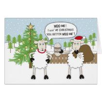 Christmas Sheep Humour Card