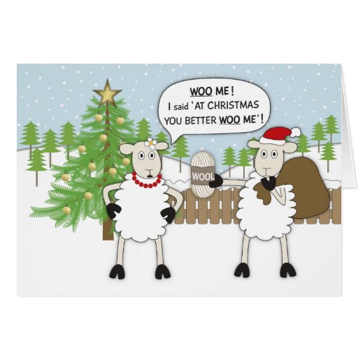 Christmas Sheep Humour Greeting Card Zazzle