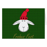 Christmas sheep Josef glad celebration Greeting Cards