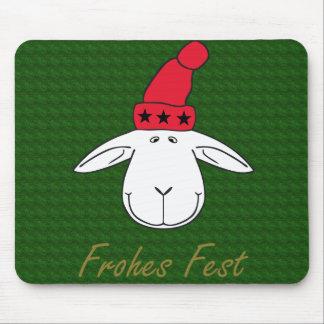 Christmas sheep Josef glad celebration Mouse Pad
