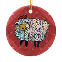 Christmas Sheep Tree Ornament