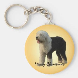 Christmas Sheepdog Keychain