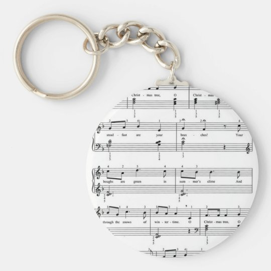 Christmas Sheet Music Keychain