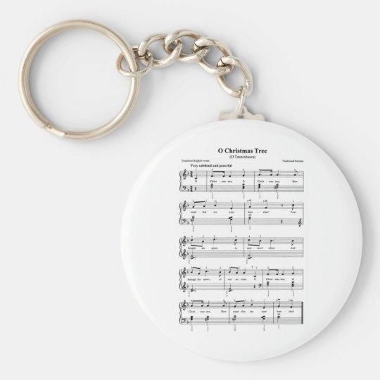 Christmas Sheet Music Keychain