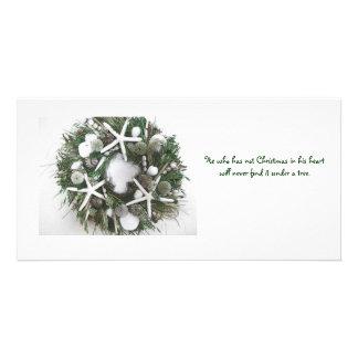Christmas Shell Wreath Card