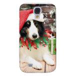 Christmas - Sheltie - Bandit Galaxy S4 Case