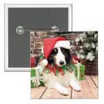 Christmas - Sheltie - Bandit Pinback Buttons