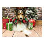 Christmas - Sheltie - Duchess Postcard