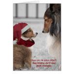 Christmas Shelties Greeting Card