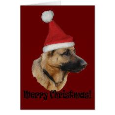 """Christmas """"shepherd Dog """" Card at Zazzle"""