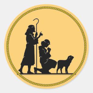 Christmas Shepherds.Shepherds At Nativity Stickers Zazzle