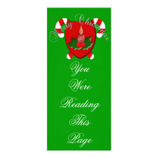 Christmas Shield Bookmark Rack Card