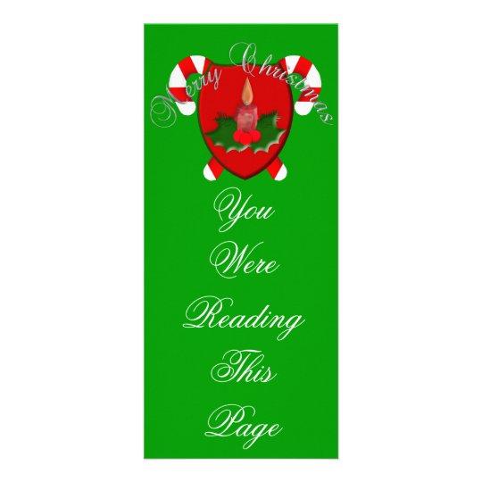 Christmas Shield Bookmark Rack Card