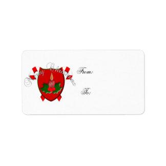 Christmas Shield Gift Tag
