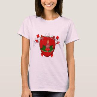 Christmas Shield Women Pink T-Shirt