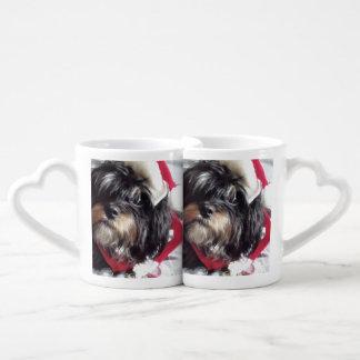 Christmas Shih Poo Coffee Mug Set