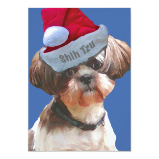 Christmas Shih Tzu 10 pk  Invitations